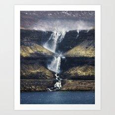 Fossá vertical Art Print