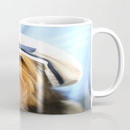 Little Sailor Yorkshireterrier With Sailor Hat  Coffee Mug