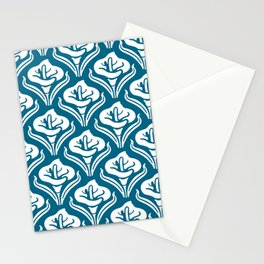 Calla Lily Pattern Peacock Blue Stationery Cards