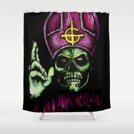Papa Emeritus  Shower Curtain
