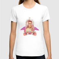 wes anderson T-shirts featuring KAWAII GLITTER PAMELA ANDERSON by whateverlulu