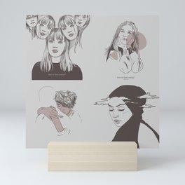 DRUCK - mains minimalism Mini Art Print