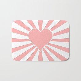 Pink Coral Valentine Love Heart Explosion Bath Mat