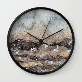 Pastel Wave Wall Clock