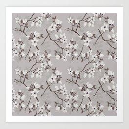 Cherry blossom floral pattern Art Print