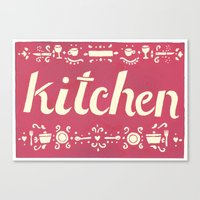 kitchen Canvas Prints featuring Kitchen by Leah Doguet