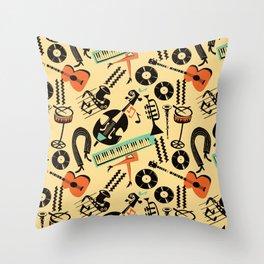 Jazz Rhythm (positive) Throw Pillow