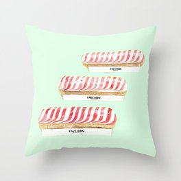 FRENCH ECLAIR  Throw Pillow