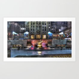 Lights & Colours Art Print