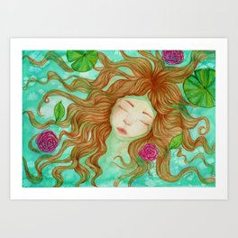 Sometimes it's Hard to Tell the Water From My Tears Art Print