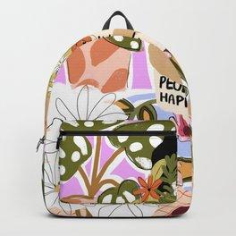 Plants Make People Happy Backpack