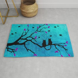 Lovecats - Together forever Rug