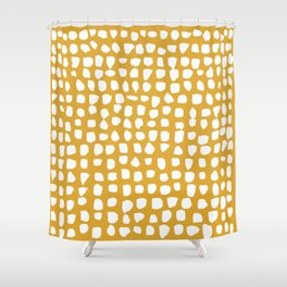 Dots / Mustard Shower Curtain