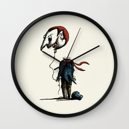 And His Head Swelled with Pride... Wall Clock