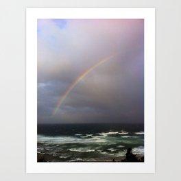 pacific rainbow Art Print