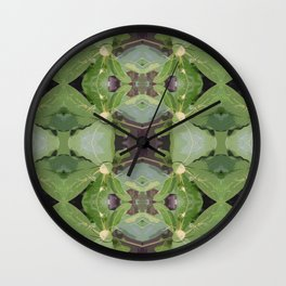 Almond Tree Pattern Wall Clock