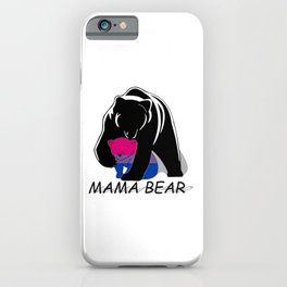 Mama Bear Bisexual iPhone Case