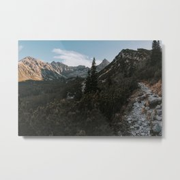 Into the mountains - Landscape and Nature Photography Metal Print