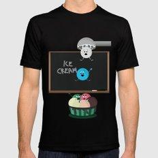 Funny Ice cream 2 Mens Fitted Tee MEDIUM Black