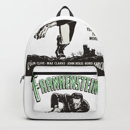 Frankenstein Vintage 1931 Movie Poster, Original Gift Idea, Boris Karloff, Bela Lugosi, Dracula Backpack