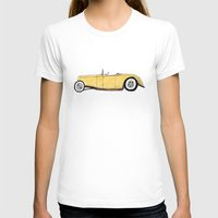 gatsby T-shirts featuring Great Gatsby Yellow Roadster by JasonKoons
