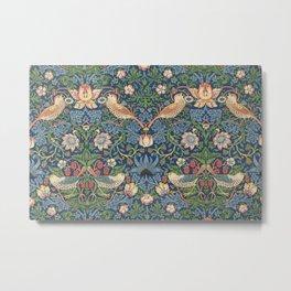 Strawberry Thief - Vintage William Morris Bird Pattern Metal Print