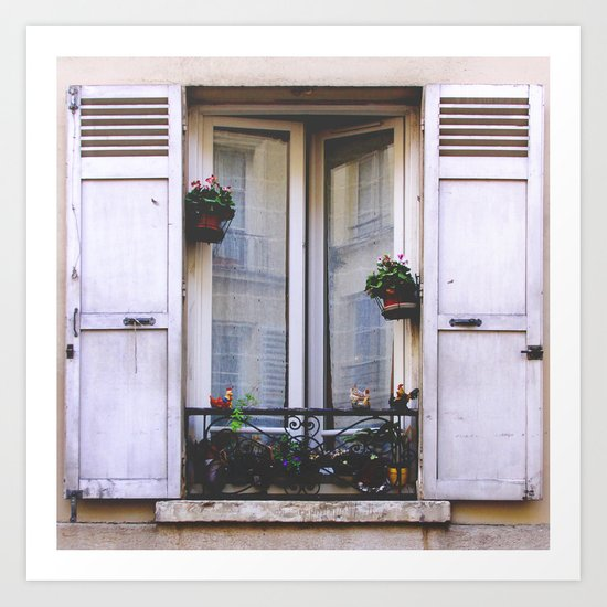 Paris Window Art Print