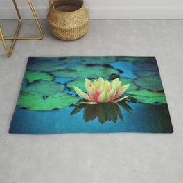waterlily textures Rug