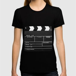 Film Movie Video production Clapper board T-shirt