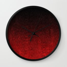 Red & Black Glitter Gradient Wall Clock