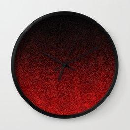 Red & Black Glitter Gradient Wall Clock