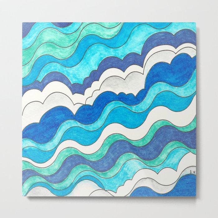 Make Waves II Metal Print