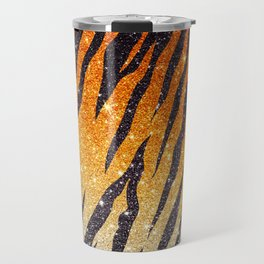 Tiger Shout Glitter Stripe Travel Mug