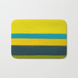 yellow blue Bath Mat
