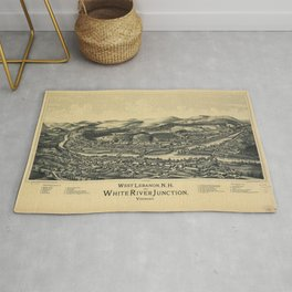 West Lebanon, New Hampshire and White River Junction, Vermont (1889) Rug