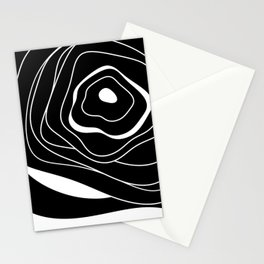 Black and white abstract flower Stationery Cards