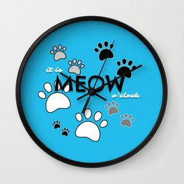 Can't Stop Meowing Wall Clock