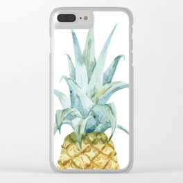 Pineapple Topper Clear iPhone Case