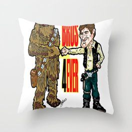 A Long Time Ago, but FOREVER!  Han Solo and Chewbacca: Best Bros in the Star Wars Universe!  Throw Pillow