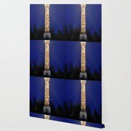 Astoria Column, blue hour fog Wallpaper