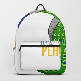 This girl loves peacocks Peacock Colorful peacock peacock feathers Backpack