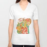 voyage V-neck T-shirts featuring Voyage by Estela Gaspar