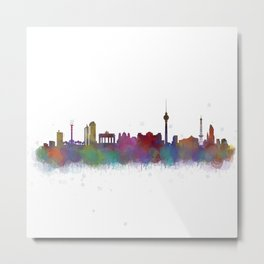 Berlin City Skyline HQ4 Metal Print