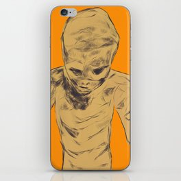 Monster between the wall and the filing cabinet iPhone Skin