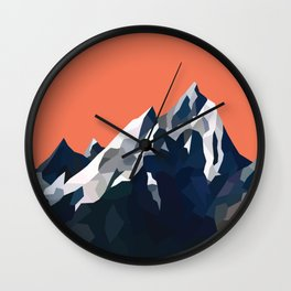 Geo Mountain Range (Part 1) Wall Clock