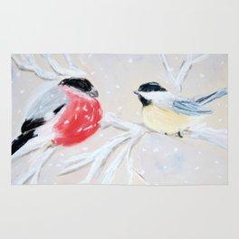 Winter Birds Rug