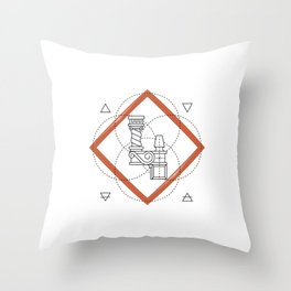 Roman Numerals Throw Pillow