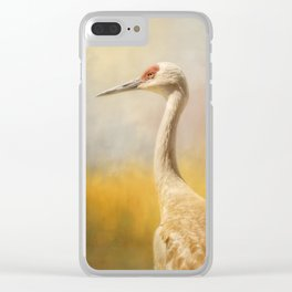 Sandhill At Water's Edge Clear iPhone Case