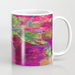 Fusion In Pink And Green Coffee Mug