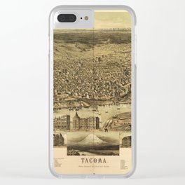 Aerial View of Tacoma, Washington (1890) Clear iPhone Case
